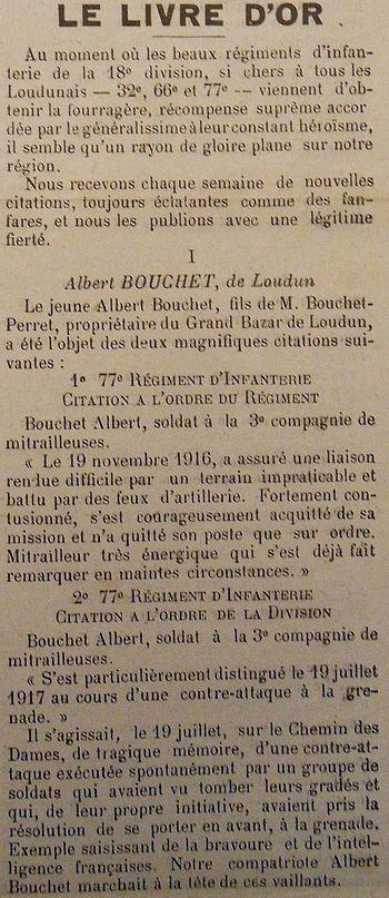 BOUCHET Albert 2 citations
