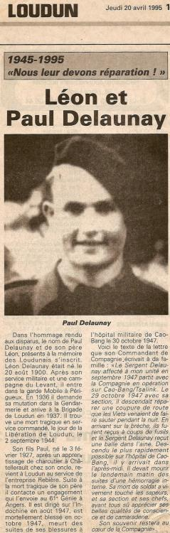 DELAUNAY Paul et Leon - article