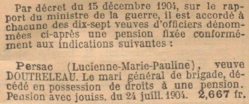 PERSAC Lucienne Pension JO 28 12 1904