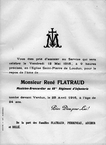 Rene Flatraud Faire-part