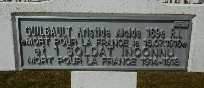 GUILBAULT Aristide Tombe Plaque