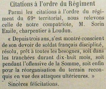 SORIN Emile Citation JDL 29 07 1917