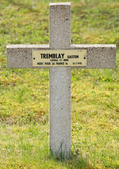 TREMBLAY Gaston tombe