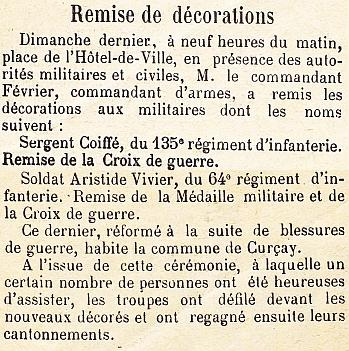 Decorations COIFFE et VIVIER