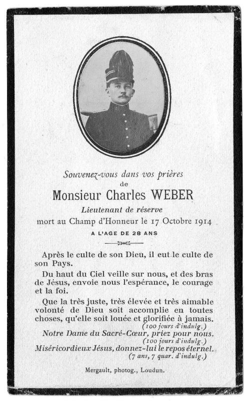 WEBER Charles Plaquette